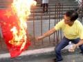 菲律宾极端分子焚烧中国国旗 要求中国船只撤出黄岩岛 (3)